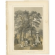 Antique Print of a Shinto Temple in Shimoda by Hawks (1856)
