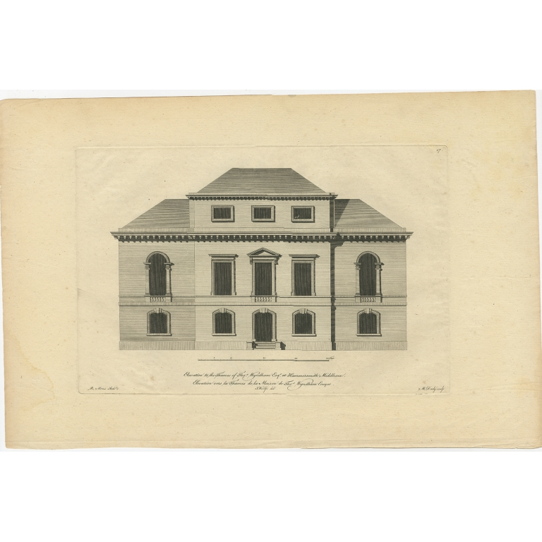 Antique Print of Thomas Wyndham's Palace by Woolfe (c.1770)