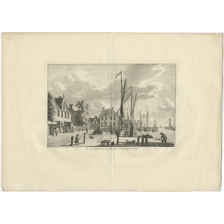 Antique Print of Lemmer (Groote Lantaarn) by Bendorp (c.1790)
