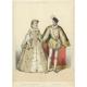 Antique Print of Elisabeth of Austria and Charles IX by Lemercier (c.1850)