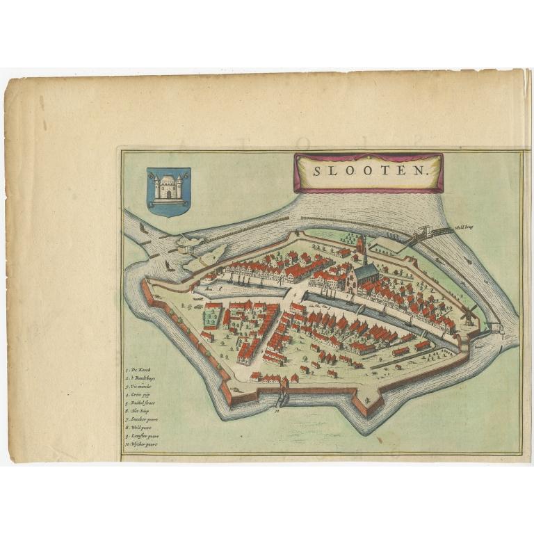 Antique Map of Sloten by Blaeu (1649)