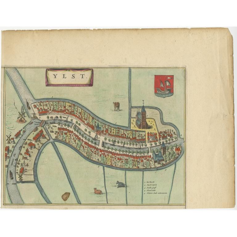 Antique Map of IJlst by Blaeu (1649)