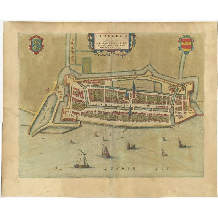 Antique Map of Stavoren by Blaeu (1649)