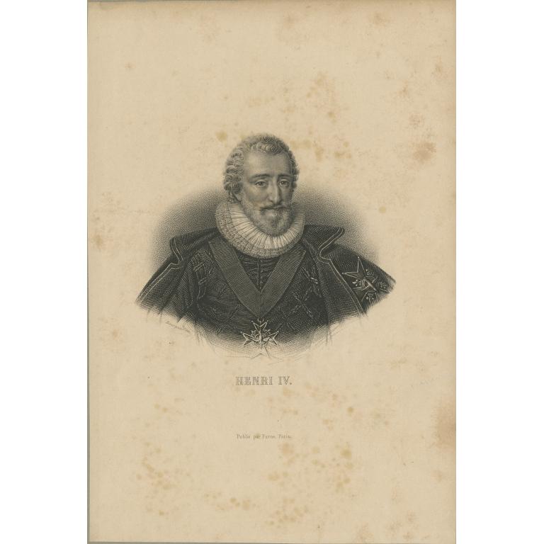 Antique Portrait of Henry IV of France (c.1830)