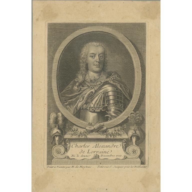 Antique Portrait of Charles Alexandre de Lorraine (c.1760)