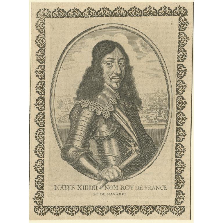 Antique Portrait of Louis XIII (c.1651)