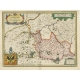 Antique Map of the Region of Cambrai by Hondius (c.1630)