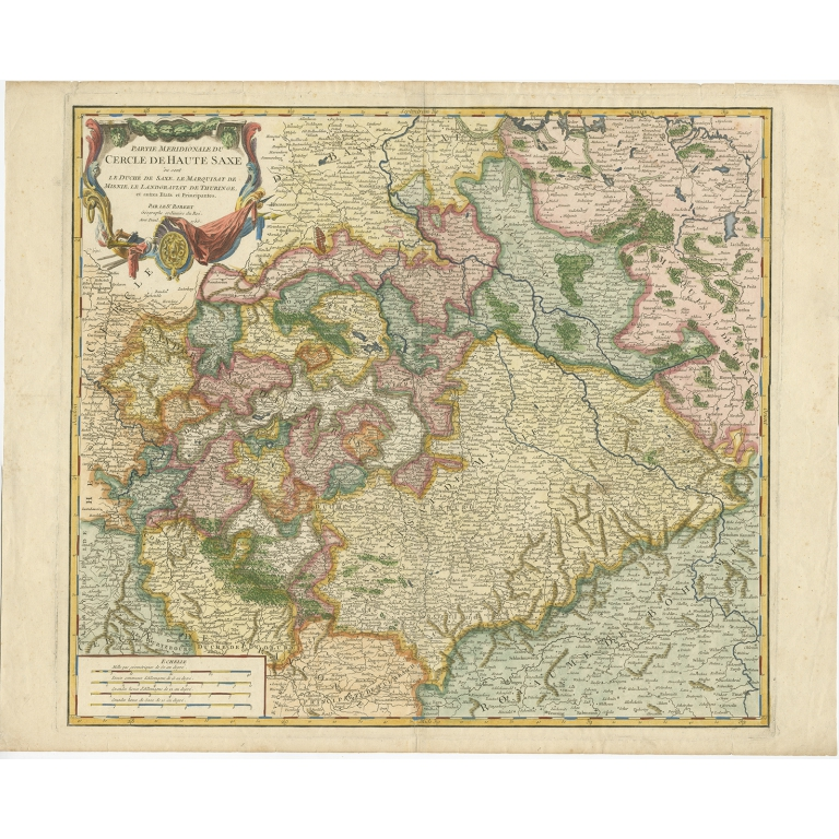 Antique Map of Upper Saxony by Vaugondy (1756)