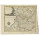 Antique Map of Drenthe and Overijssel by Kloekhoff (1793)