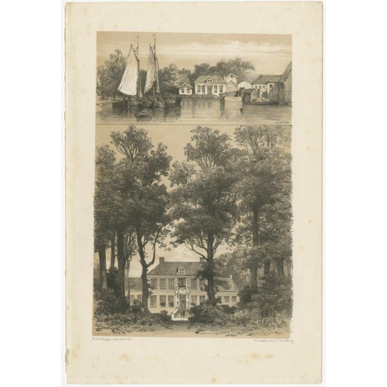 Antique Print of Joure and Osinga State by Craandijk (1882)