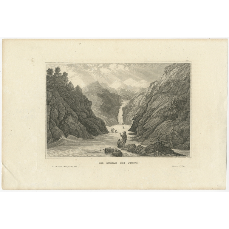 Antique Print of the Yamuna River by Meyer (1839)