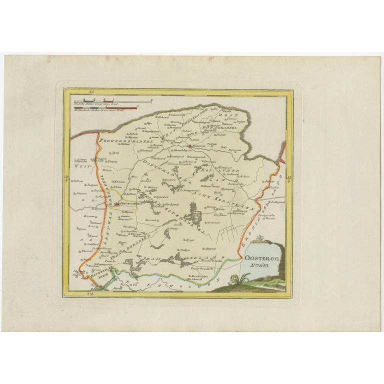 Antique Map of Oostergo by Von Reilly (1791)