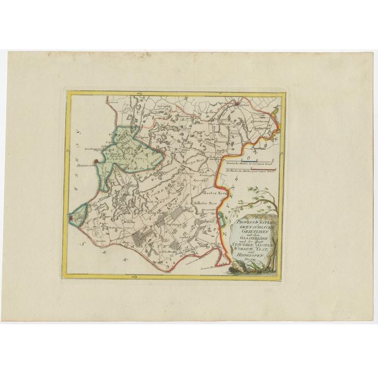 Antique Map of the region of Gaasterland by Von Reilly (1791)