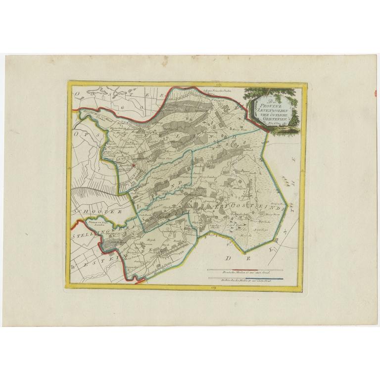Antique Map of Zevenwolden by Von Reilly (1791)