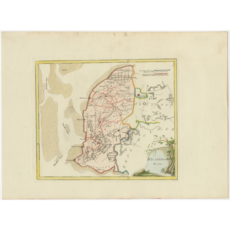 Antique Map of Westergo by Von Reilly (1791)