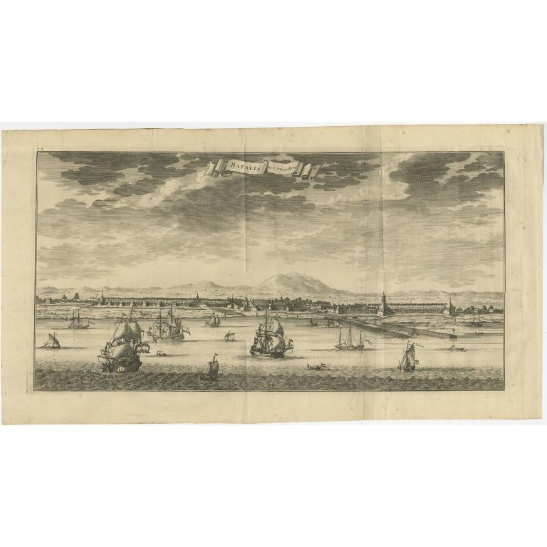 Antique Print of Batavia by Valentijn (1726)