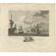 Antique Print of Ships near Batavia by Kobell (1779)