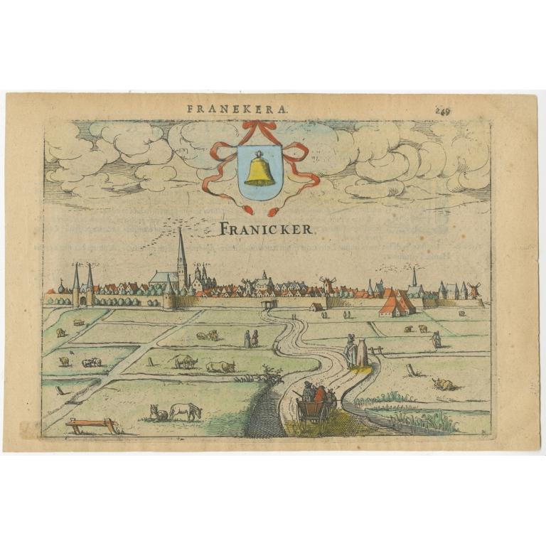 Antique Print of Franeker by Guicciardini (1616)