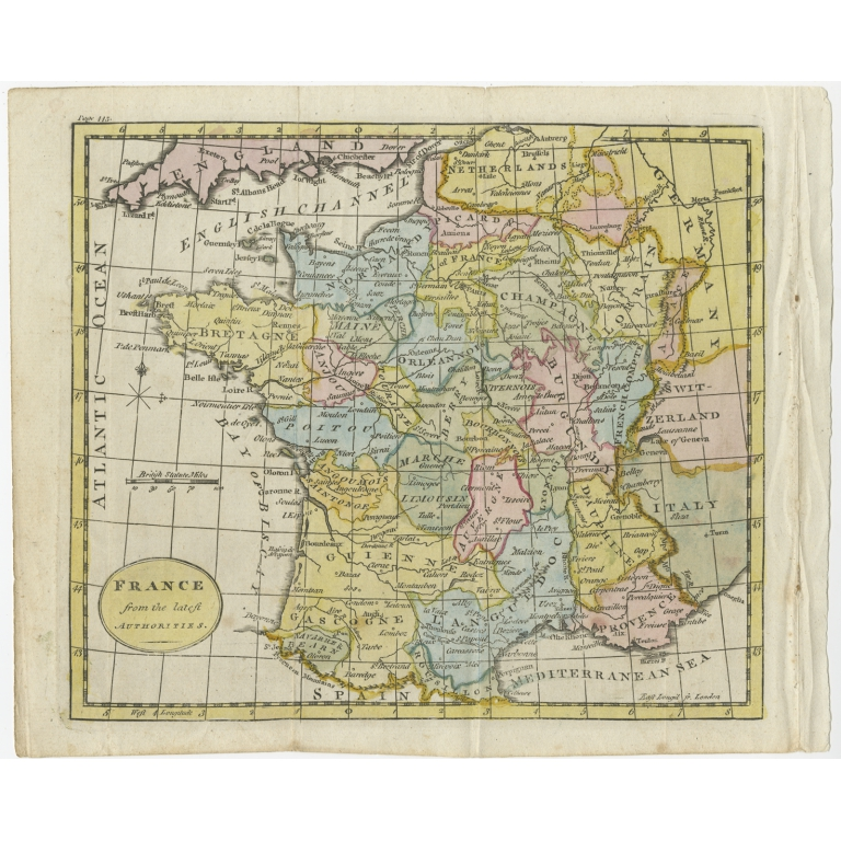Antique Map of France (c.1795)