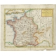Antique Map of France by Senex (1744)