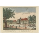 Antique Print of Huis ten Bosch by Probst (c.1760)