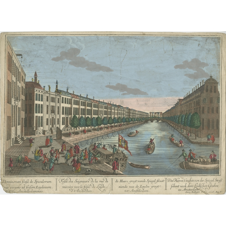 Antique Print of The Hague by Probst (c.1760)