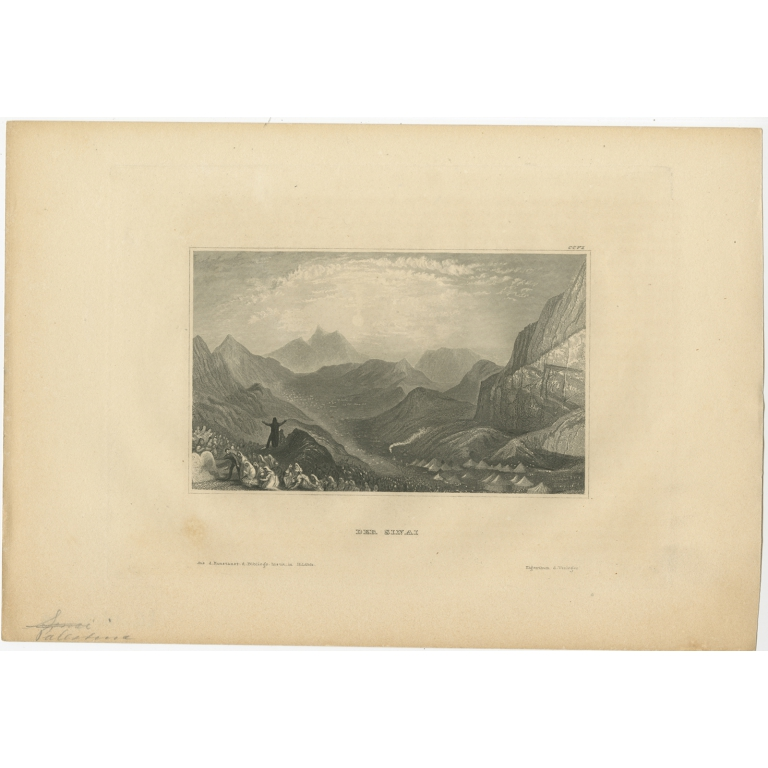 Antique Print of the Sinai by Meyer (1838)