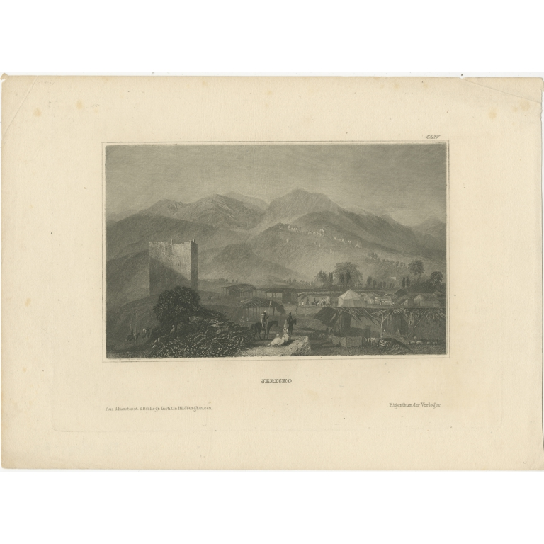 Antique Print of Jericho by Meyer (1836)
