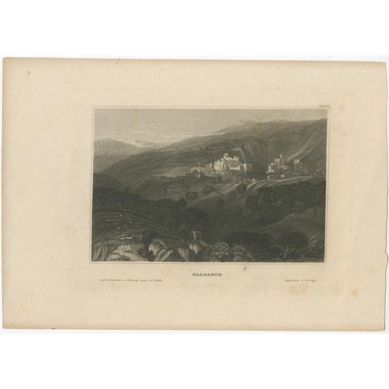 Antique Print of Nazareth by Meyer (1836)