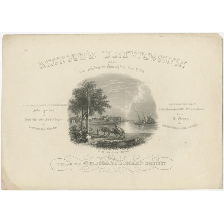 Antique Frontispiece (v.16) of Meyer's Universum (1854)