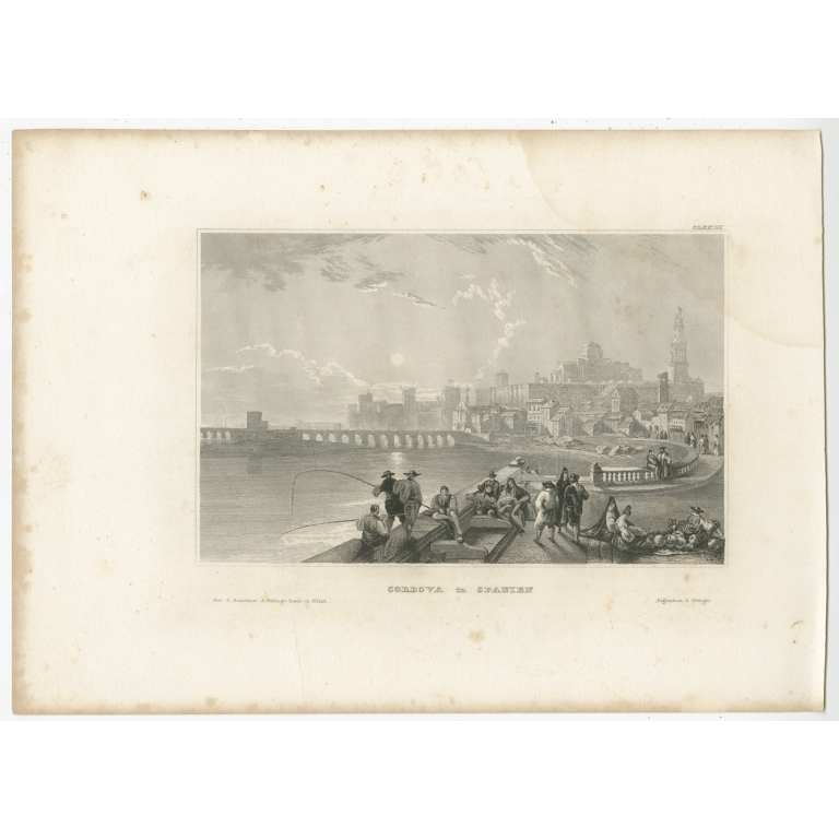 Antique Print of Córdoba by Meyer (1837)