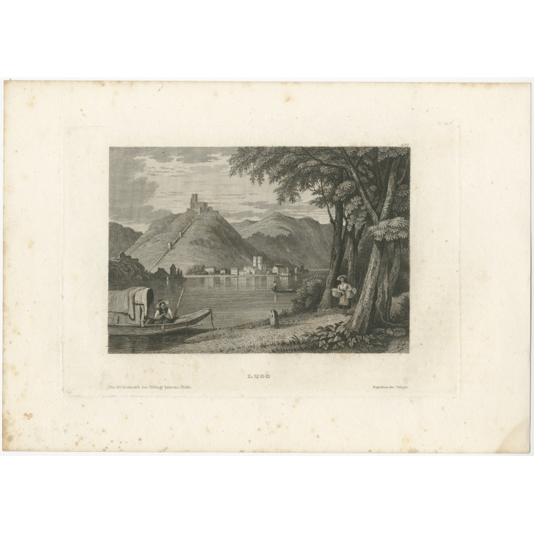 Antique Print of Lugo by Meyer (1837)