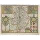 Antique Map of Warwickshire by Speed (c.1614)