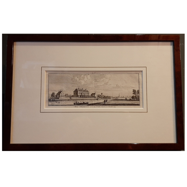 Antique Print of the City of IJsselstein by Spilman (c.1750)