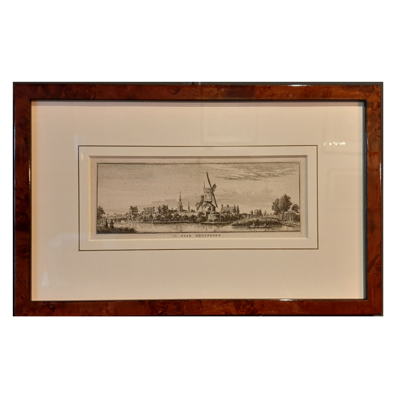 Antique Print of the City of Montfoort by Spilman (c.1750)