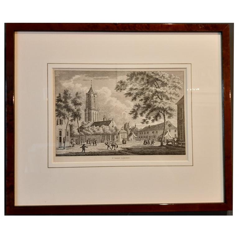 Antique Print of the Village of Loenen by Bendorp (c.1790)