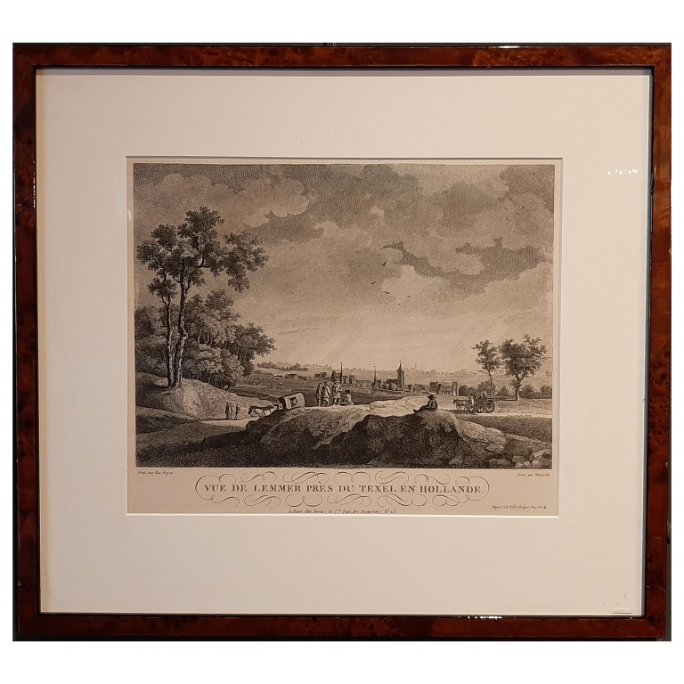 Antique Print of the Village of Lemmer by Demonchy (c.1860)