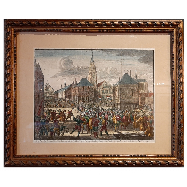 Antique Print of the Alteration of Amsterdam by Luyken (c.1720)