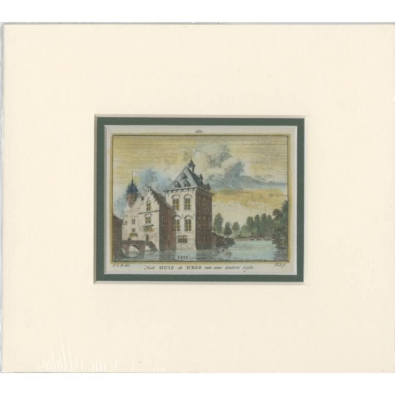 Antique Print of 'Huis te Nesse' by Spilman (c.1750)