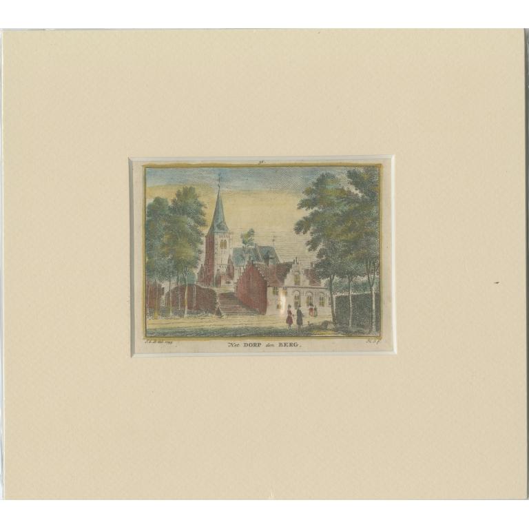 Antique Print of the village of Nederhorst den Berg by Spilman (c.1750)