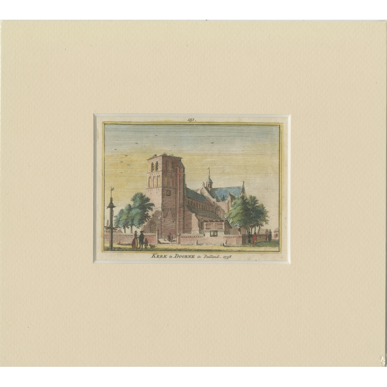 Antique Print of the Church of Deurne by Spilman (c.1750)