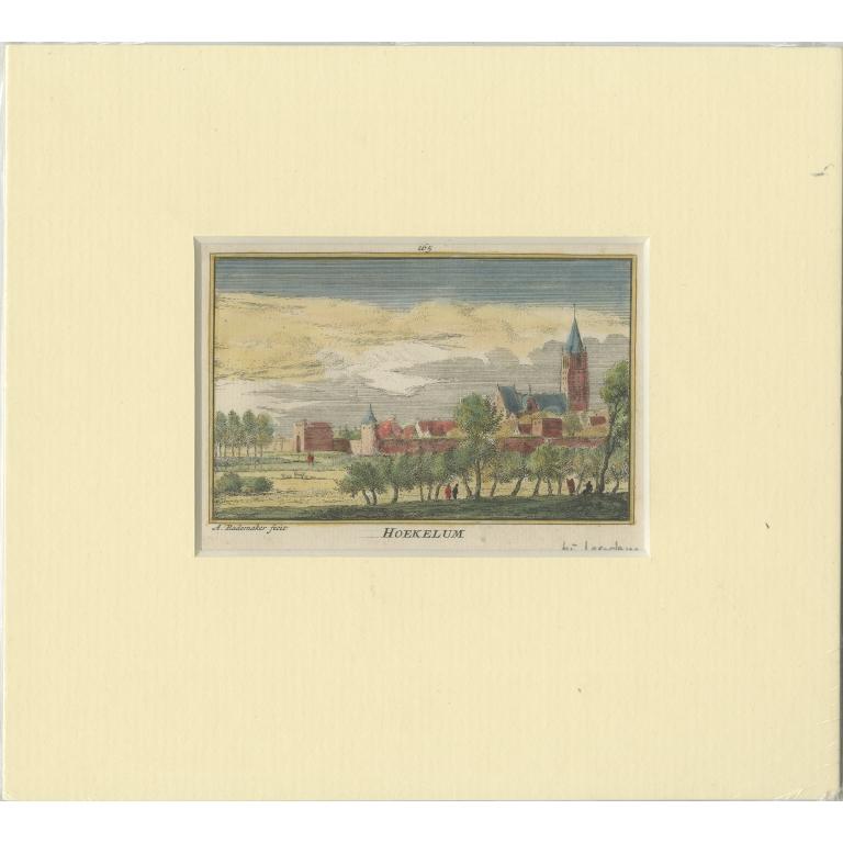 Antique Print of the Village of Hoekelum by Rademaker (c.1730)