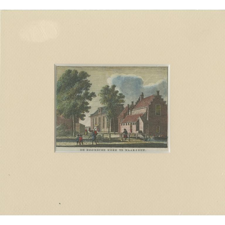 Antique Print of Kronenburg Castle by Rademaker (c.1730)