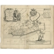 Antique Map of the region of Gaasterland by Schotanus (1664)