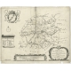 Antique Map of the region of Frankeradeel by Schotanus (1664)