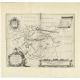Antique Map of the region of Dantumadeel by Schotanus (1664)