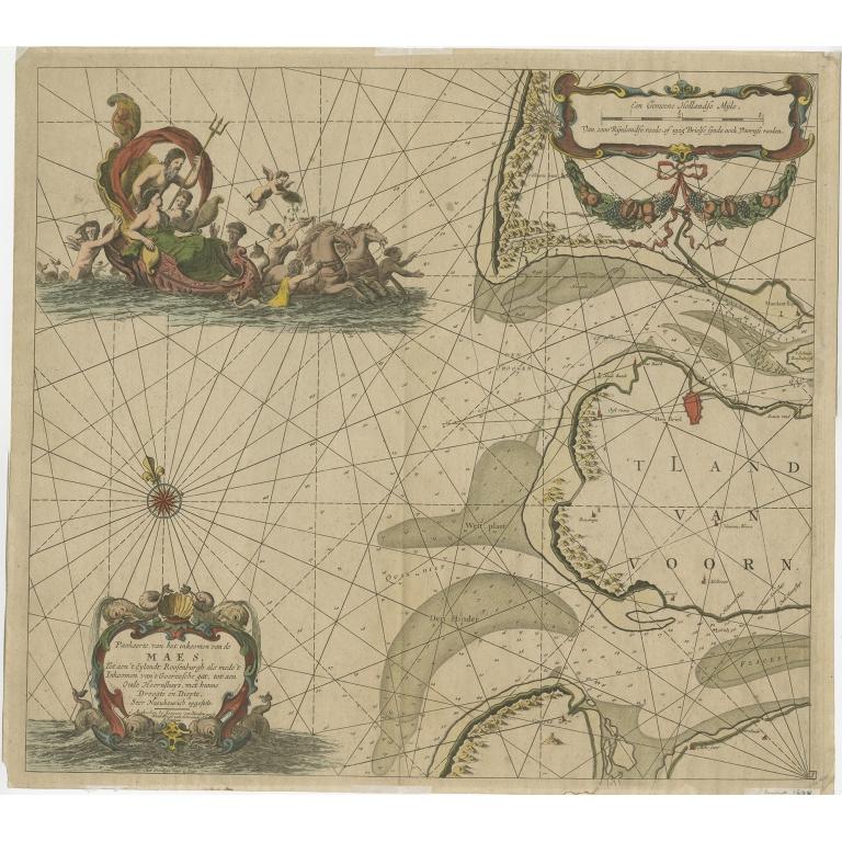Antique Sea Chart of the Maas River by Van Keulen (1684)