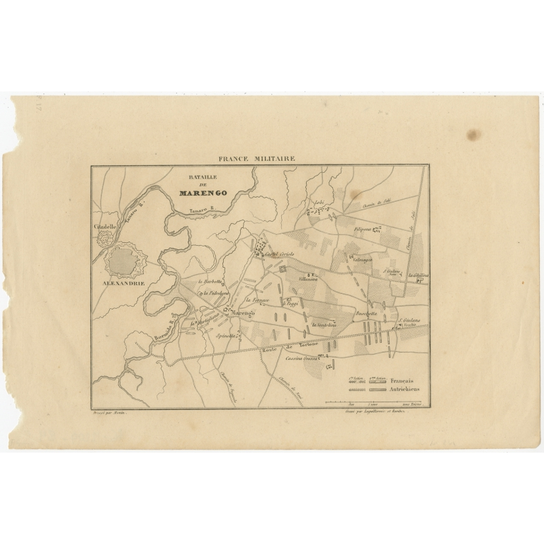 Antique Print of the Battle of Marengo by Laguillermie & Ramboz (c.1835)