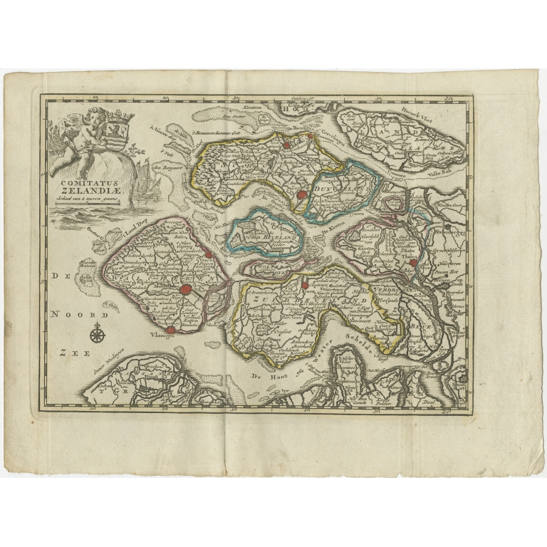 Antique Map of the Province of Zeeland by Keizer & De Lat (1788)