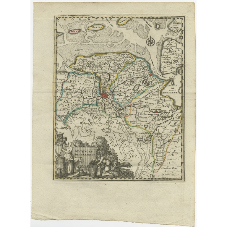 Antique Map of the Province of Groningen by Keizer & De Lat (1788)